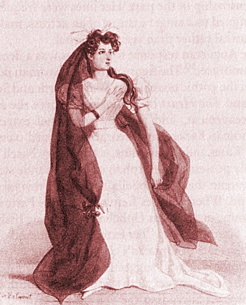 Harriet Smithson dans le rôle d'Ophélie