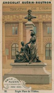 Emile Augier, Auteur Dramatique, 1820-1889, Erigee Place de l'Odeon