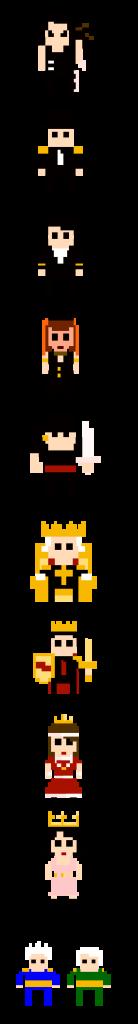Les personnages de Richard III Attacks