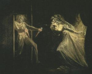 Johann Heinrich Füssli : Lady Macbeth aux poignards, 1812. London Tate Gallery
