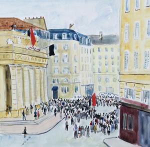La place de l'Odéon en juin 1968, © archives Yves Brayer