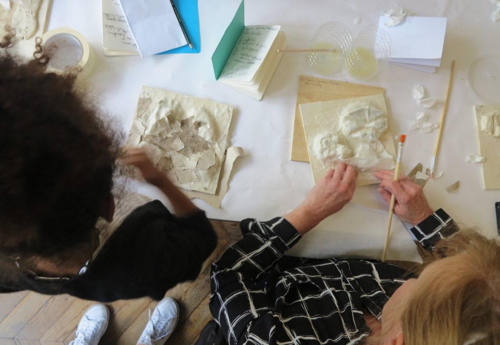 Début de la fabrication des moules à partir des empreintes en plastiline