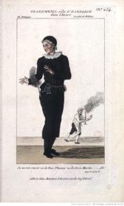 Harpagon joué par Grandmesnil à la Comédie-Française, 1790. Bnf ASP-4-ICO-COS-1