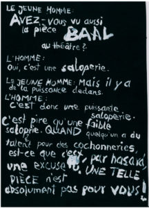 Baal, couverture du programme