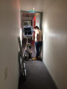 1er jour de tournage / couloir du 1er étage du Théâtre de l'Odéon 6e