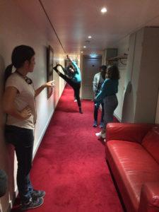 1er jour de tournage / couloir des loges du Théâtre de l'Odéon 6e