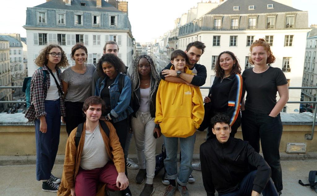 Une partie du groupe lors du premier atelier le 17 octobre 2018 à l'Odéon 6e